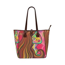 Love is Near Vibrant Portrait Classic Tote Bag (Model 1644)