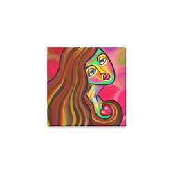 "Love is Near Vibrant Portrait Canvas Print 4""x4"""