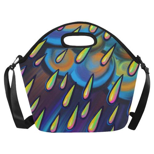 Heavy Rain Cloud Painting Neoprene Lunch Bag/Large (Model 1669)