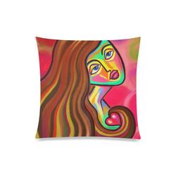 "Love is Near Vibrant Portrait Custom Zippered Pillow Case 20""x20""(Twin Sides)"