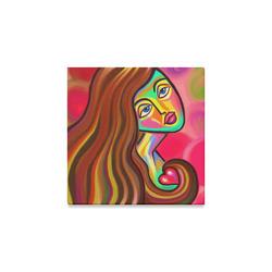 "Love is Near Vibrant Portrait Canvas Print 8""x8"""