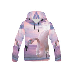 Flamingo and Pink Sky All Over Print Hoodie for Kid (USA Size) (Model H13)