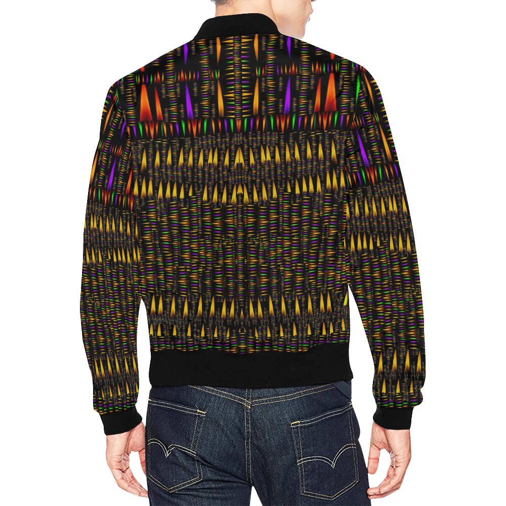 hot as candles and fireworks in warm flames All Over Print Bomber Jacket for Men (Model H19)