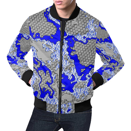 Unique abstract pattern mix 2B by FeelGood All Over Print Bomber Jacket for Men (Model H19)