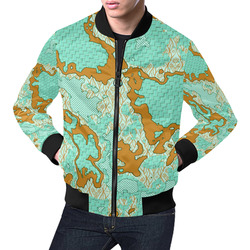 Unique abstract pattern mix 2F by FeelGood All Over Print Bomber Jacket for Men (Model H19)