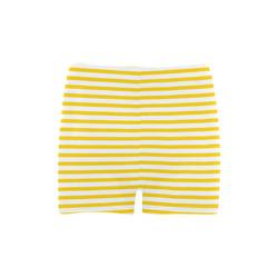 Horizontal Yellow Candy Stripes Briseis Skinny Shorts (Model L04)