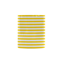 Horizontal Yellow Candy Stripes Custom Morphing Mug