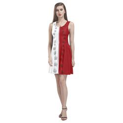 2 Tone Canada Dresses - Short Thea Sleeveless Skater Dress(Model D19)