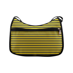 Horizontal Yellow Candy Stripes Crossbody Bags (Model 1616)