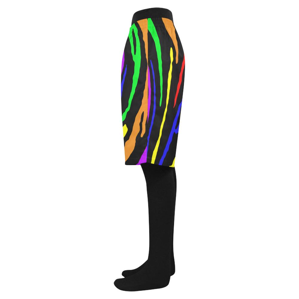 Rainbow Tiger Stripes Men's Swim Trunk (Model L21)