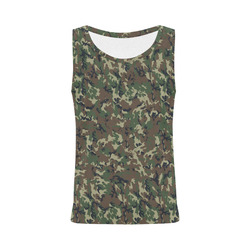 Forest Camouflage Pattern All Over Print Tank Top for Women (Model T43)