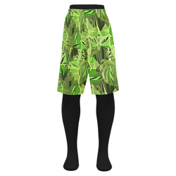 Tropical Jungle Leaves Camouflage Men's Swim Trunk (Model L21)