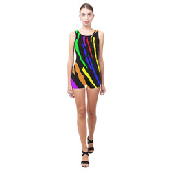Rainbow Tiger Stripes Classic One Piece Swimwear (Model S03)