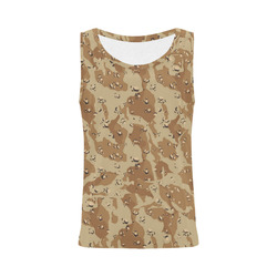 Desert Camouflage Pattern All Over Print Tank Top for Women (Model T43)