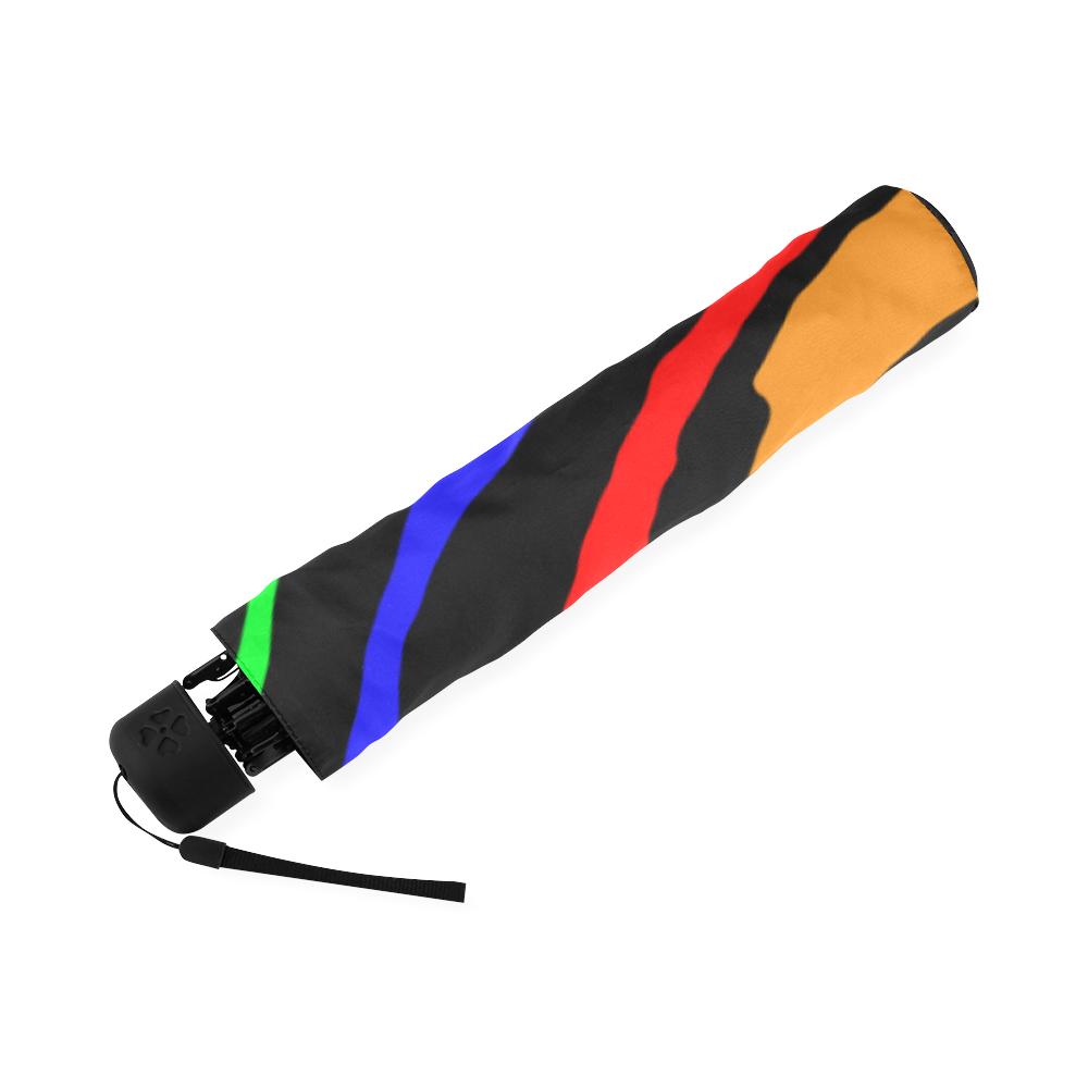 Rainbow Tiger Stripes Foldable Umbrella (Model U01)