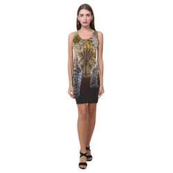 A fantastic painted russian amur leopard Medea Vest Dress (Model D06)