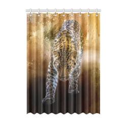 "A fantastic painted russian amur leopard Window Curtain 52"" x 72""(One Piece)"