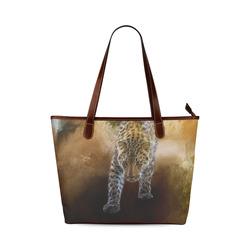 A fantastic painted russian amur leopard Shoulder Tote Bag (Model 1646)