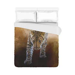 "A fantastic painted russian amur leopard Duvet Cover 86""x70"" ( All-over-print)"