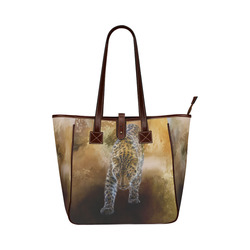 A fantastic painted russian amur leopard Classic Tote Bag (Model 1644)