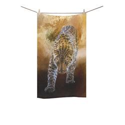 "A fantastic painted russian amur leopard Custom Towel 16""x28"""