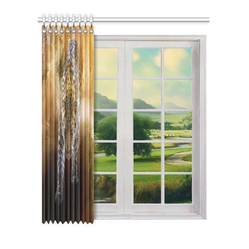 "A fantastic painted russian amur leopard Window Curtain 52"" x 63""(One Piece)"