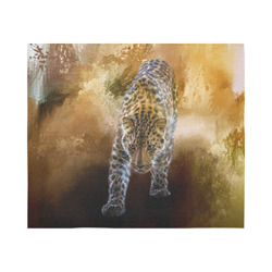 "A fantastic painted russian amur leopard Cotton Linen Wall Tapestry 60""x 51"""