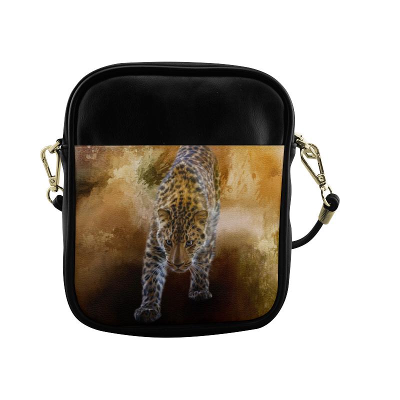 A fantastic painted russian amur leopard Sling Bag (Model 1627)