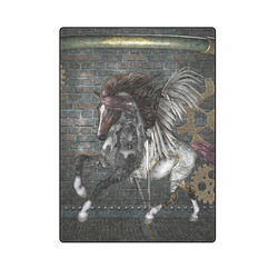 "Steampunk, awesome steampunk horse with wings Blanket 58""x80"""