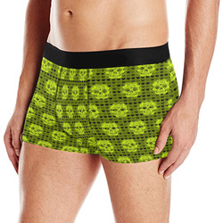 skulls and hearts,yellow by JamColors Men's All Over Print Boxer Briefs (Model L10)