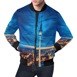 Berlin by Artdream All Over Print Bomber Jacket for Men (Model H19)