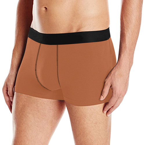 basic brown solid color customize Men's All Over Print Boxer Briefs (Model L10)