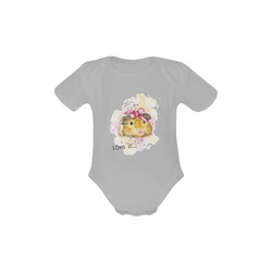 Love is... a Guinea Pig Grey Baby Powder Organic Short Sleeve One Piece (Model T28)