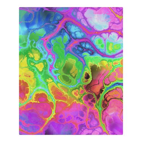 Rainbow Marble Fractal 3-Piece Bedding Set