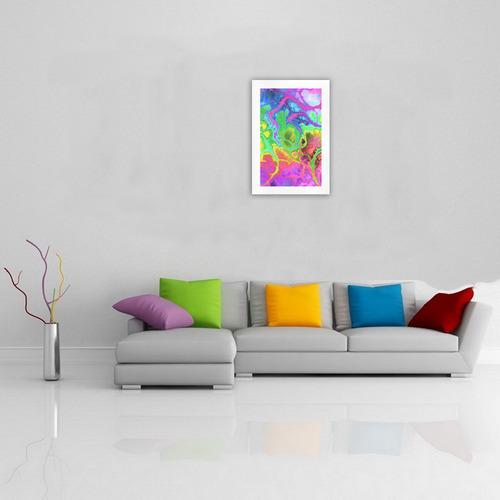Rainbow Marble Fractal Art Print 19''x28''