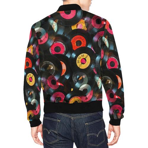 Vinyl Records by Artdream All Over Print Bomber Jacket for Men (Model H19)