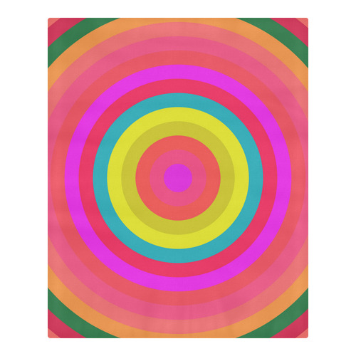 Pink Retro Radial Pattern 3-Piece Bedding Set