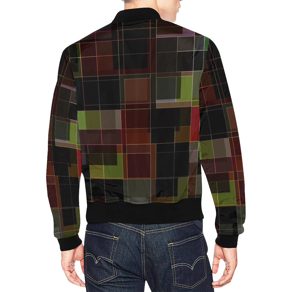 Classic Checkers All Over Print Bomber Jacket for Men (Model H19)