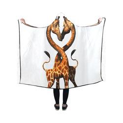 giraffeloves Hooded Blanket 50''x40''