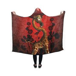 I am a lady, cute giraffe Hooded Blanket 50''x40''