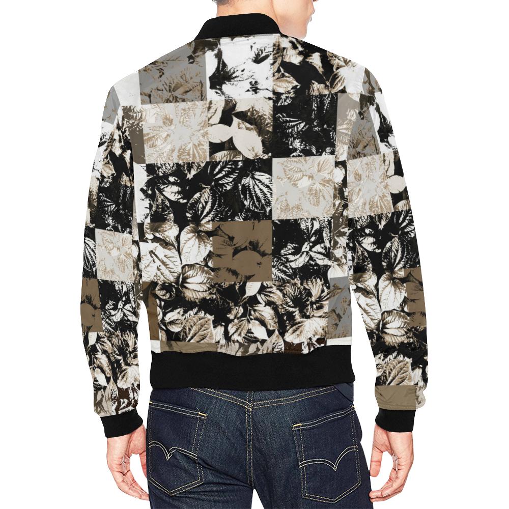 Foliage Patchwork #8 All Over Print Bomber Jacket for Men (Model H19)