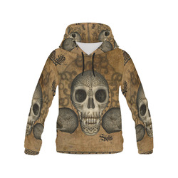 Awesome skull with celtic knot All Over Print Hoodie for Men (USA Size) (Model H13)