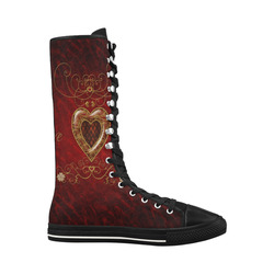 Love, wonderful heart Canvas Long Boots For Women Model 7013H