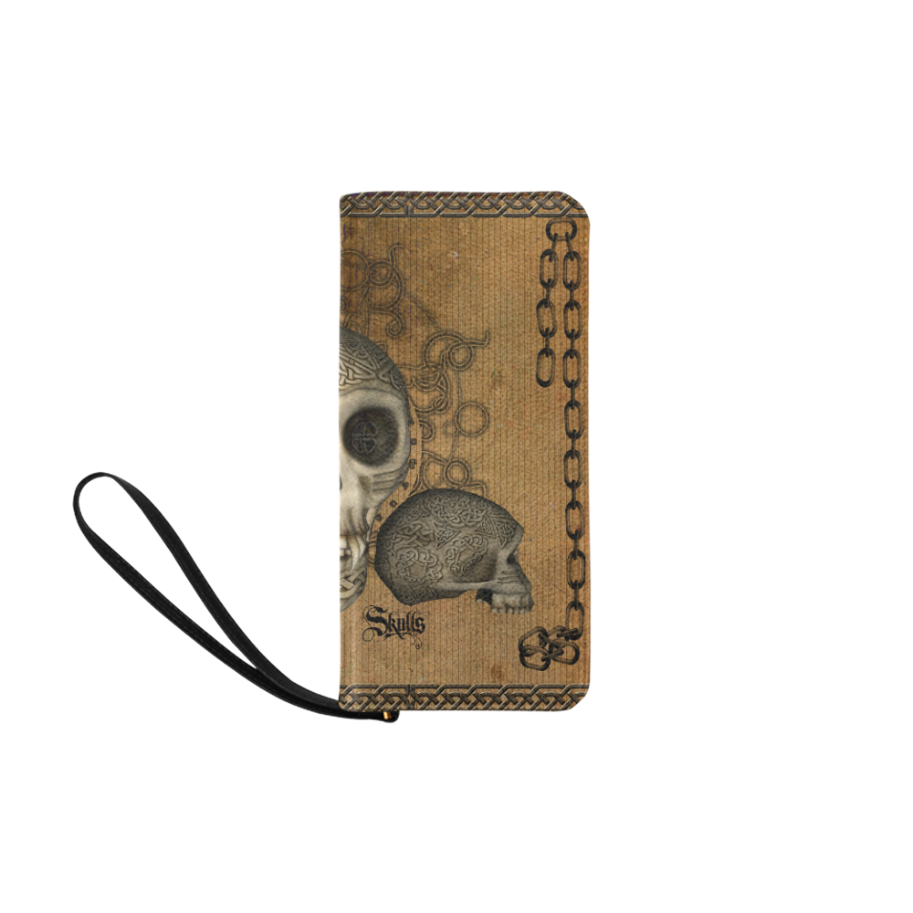 Awesome skull with celtic knot Women's Clutch Purse (Model 1637)