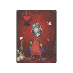 """Funny, cute parrot Blanket 50""""x60"""""""