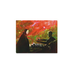 """Playing Chess with Death Canvas Print 14""""x11"""""""