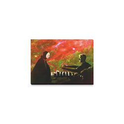 """Playing Chess with Death Canvas Print 7""""x5"""""""