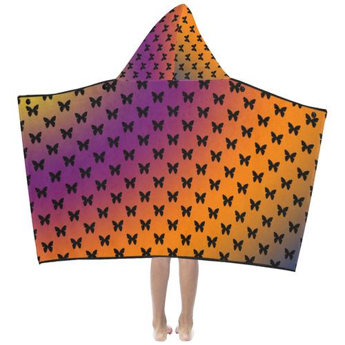 Summer Butterflies Kids' Hooded Bath Towels
