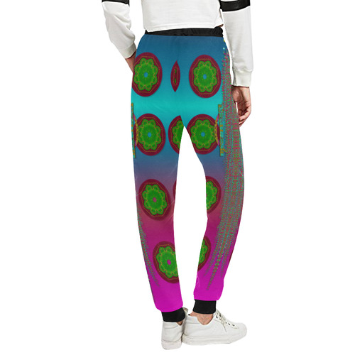 Meditative abstract temple of love Women's All Over Print Sweatpants (Model L11)