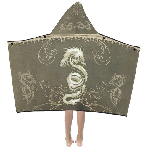 Chinese dragon Kids' Hooded Bath Towels